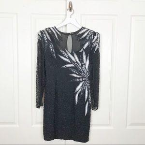 A.J. Bari Vintage 90's Sequin Beaded Dress